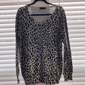 Lame Bryant Cheetah Print Cardigan